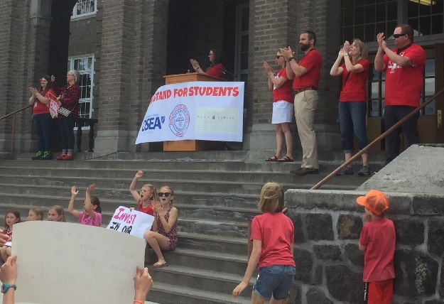 Local Teachers Rally In Support of School Funding