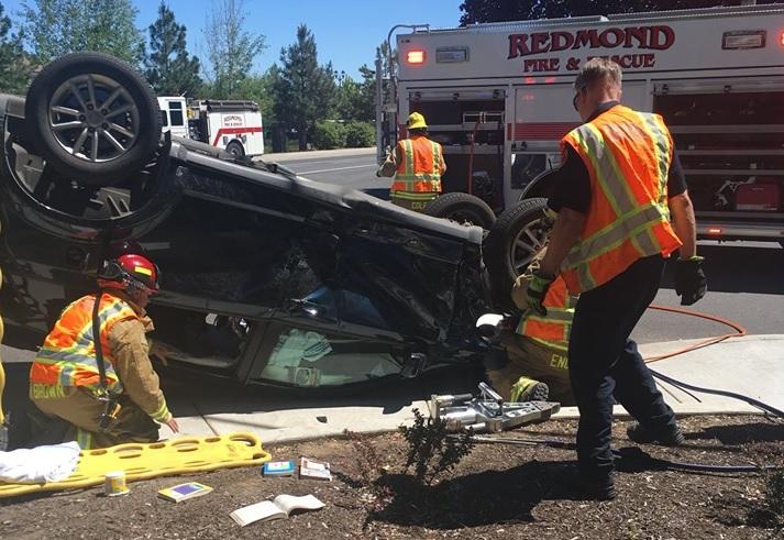 Redmond Crash Results in Minor Injuries