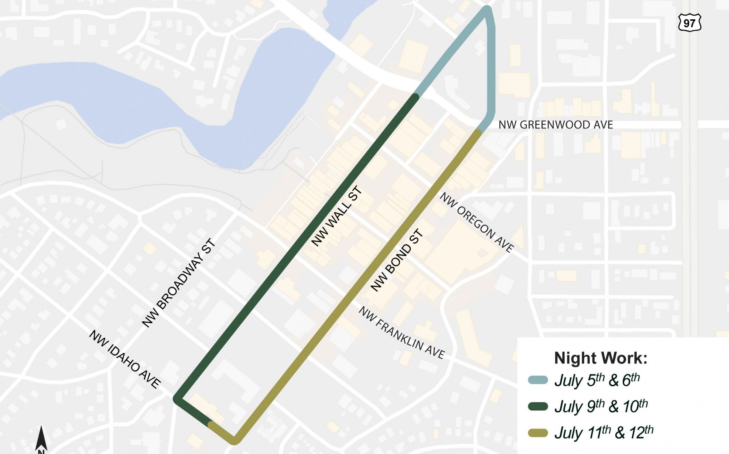 Night Work To Close Downtown Bend Streets