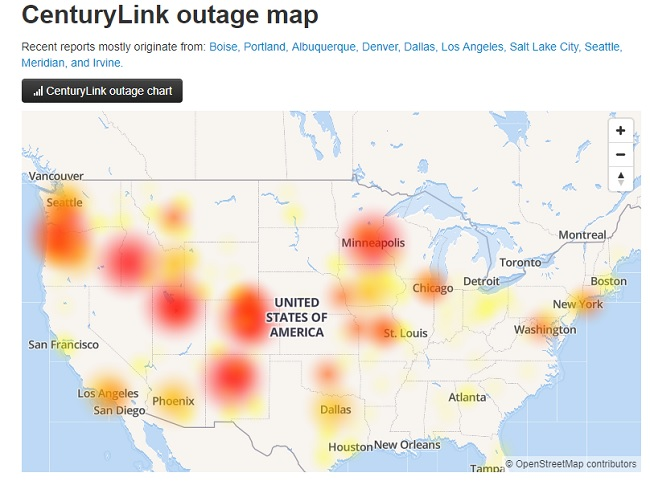 CenturyLink services restored for many customers but others still reporting problems""