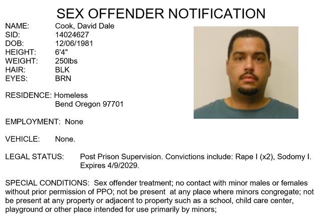 Bend oregon sex offender regulations