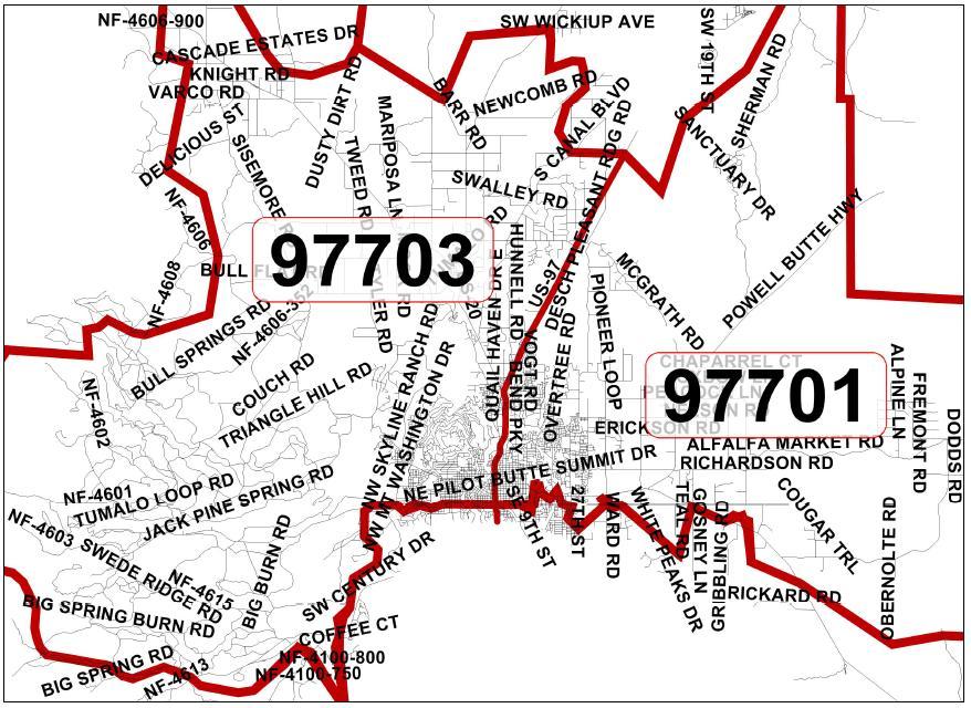 Bend Oregon Zip Code Map New ZIP Coming to Bend